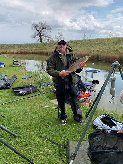 Fishing at Oak Tree Fisheries Lake