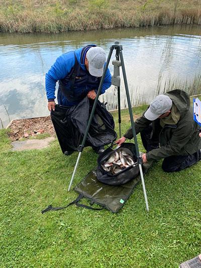 Fishing at Oak Tree Fisheries and lake